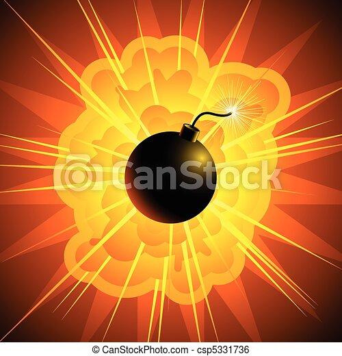 Exploding bomb - csp5331736
