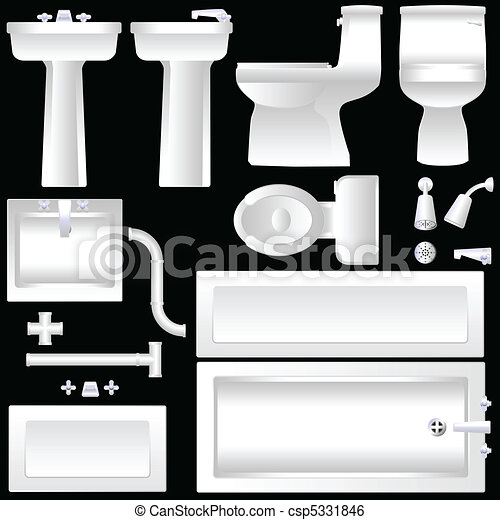 Bathroom furnishings - csp5331846