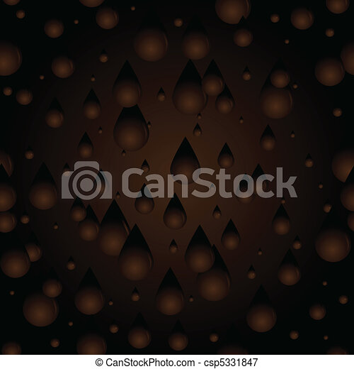 Seamless Chocolate drips - csp5331847