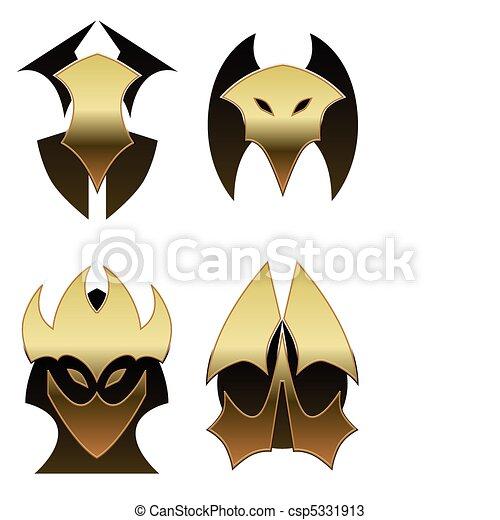 Four demon shields - csp5331913