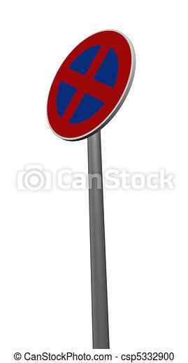 roadsign no parking - csp5332900