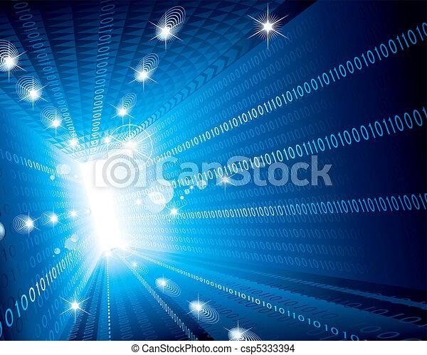 Binary Code Background - csp5333394