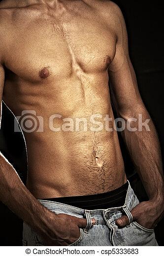 Muscular male torso - csp5333683