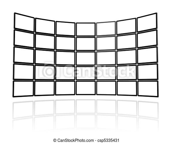 Video wall made of flat tv screens - csp5335431