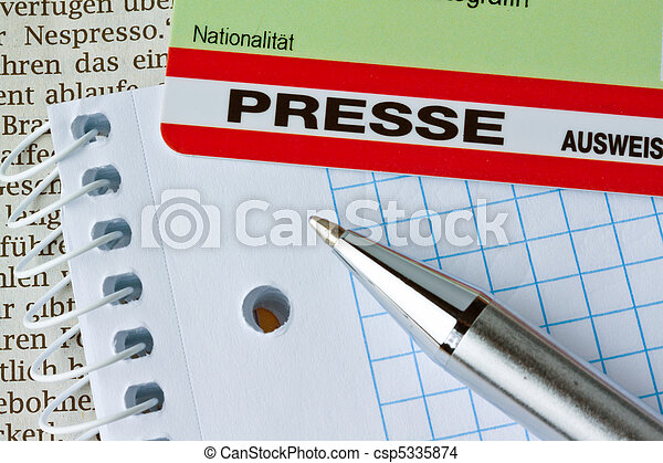 Press pass for journalists - csp5335874