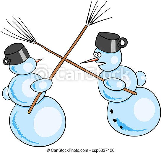snowmans battle - csp5337426