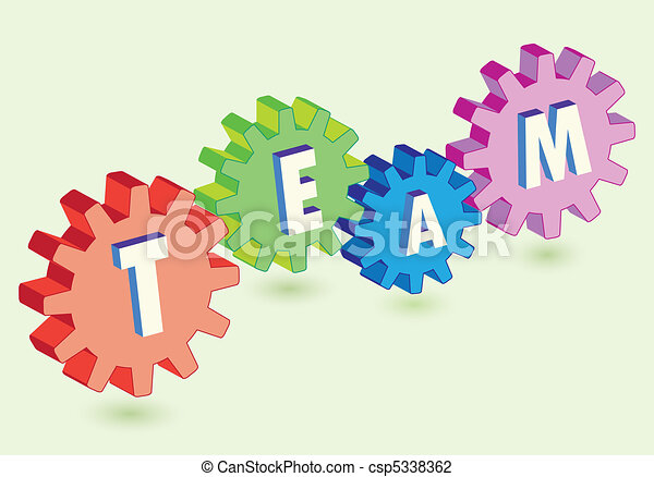 gears as team work metaphor - csp5338362