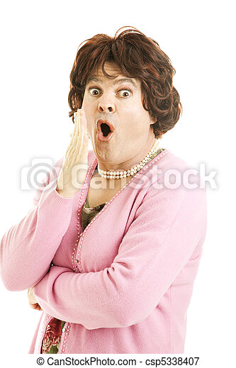 Shocked Female Impersonator - csp5338407