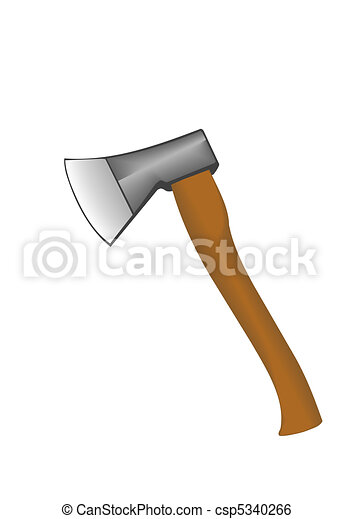 Vector illustration an axe with the wooden handle - csp5340266