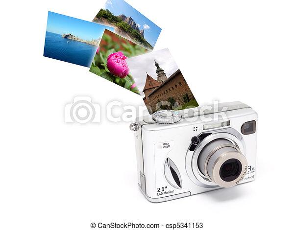 Camera photo isolated concept. - csp5341153