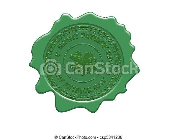 Saint Patrick day wax seal - csp5341236