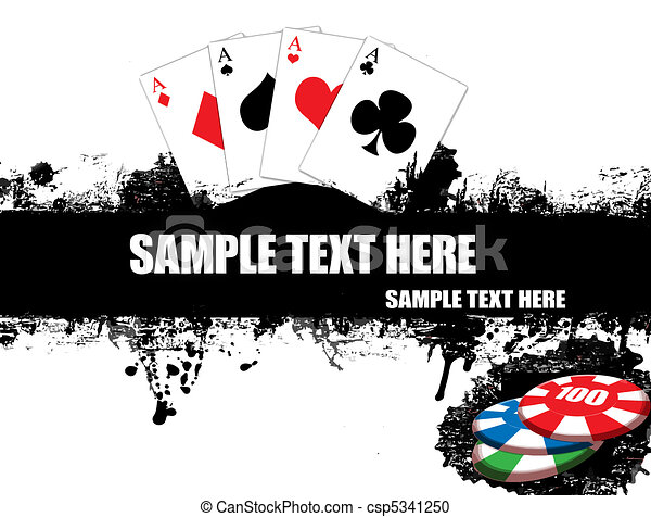 playing cards poster - csp5341250
