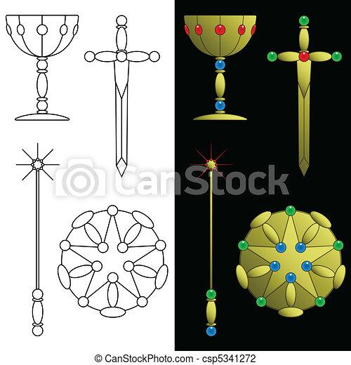 Tarot card symbols - csp5341272