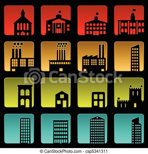 Building icons - csp5341311
