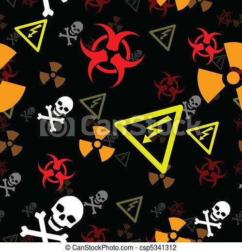 Seamless hazard background - csp5341312