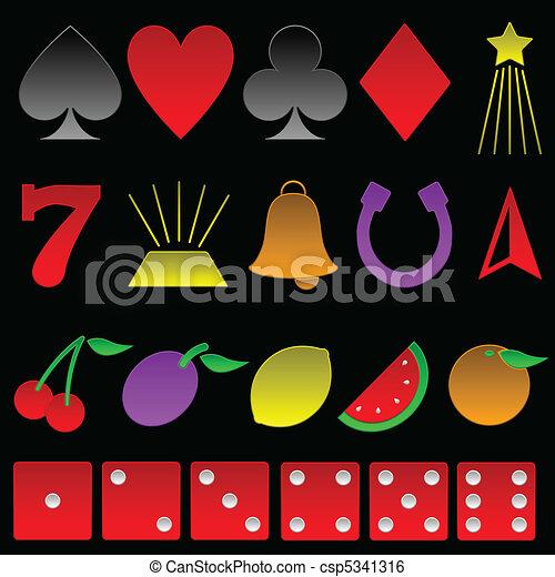 Beveled gambling symbols - csp5341316