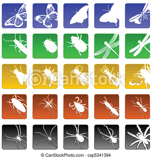 insect icons - csp5341394
