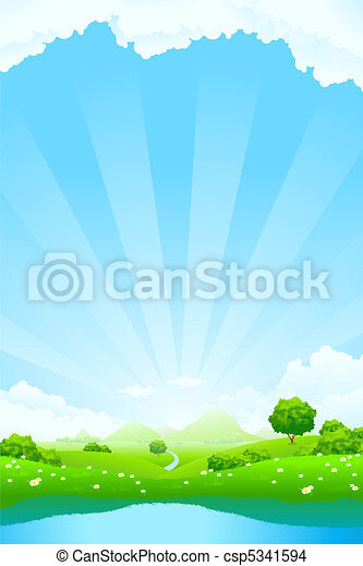 Green Landscape - csp5341594
