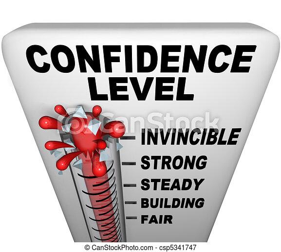 Thermometer - Confidence Level - csp5341747