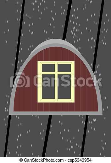 Attic window. - csp5343954