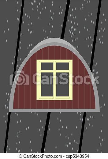 Attic window.  - csp5343954
