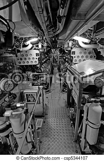 Submarino,  interior,  Sydney - csp5344107