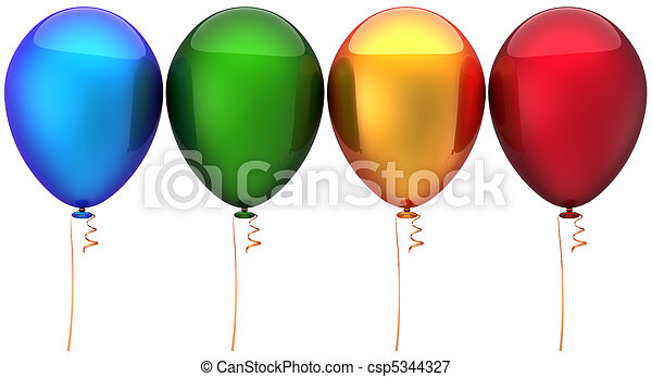 Multicolored balloons - csp5344327
