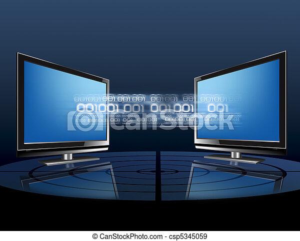 Übertragung, Daten - csp5345059