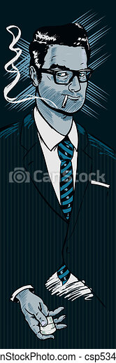 Classic 1950s style businessman smo - csp5345113