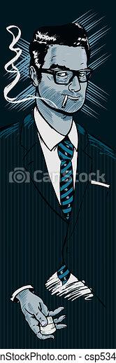 Classic 1950s style businessman smo - csp5345113