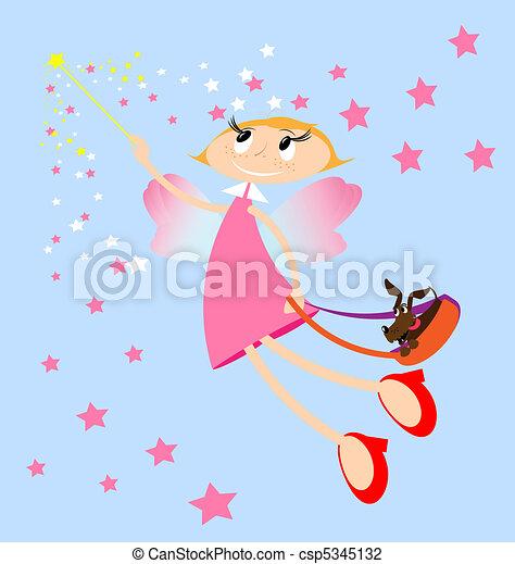pink fairy - csp5345132