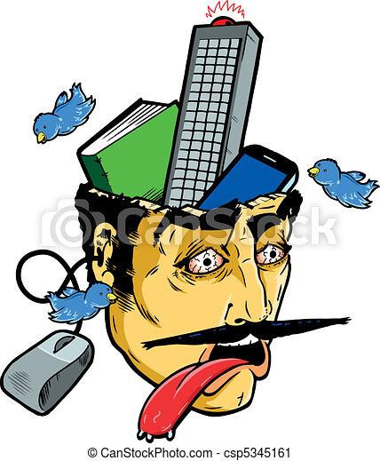 Information overload - csp5345161