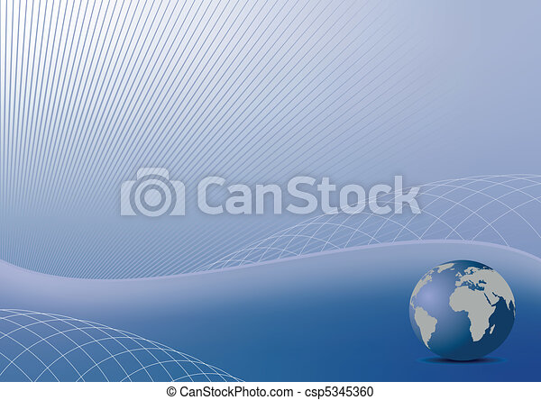 Illustration the abstract blue background for design business cover card or invitation style - vector - csp5345360