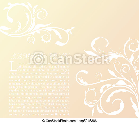 Illustration the floral decor element for design and border - csp5345386