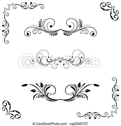 Set of floral frame - csp5345707