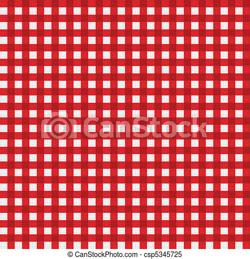 Pattern picnic tablecloth vector - csp5345725