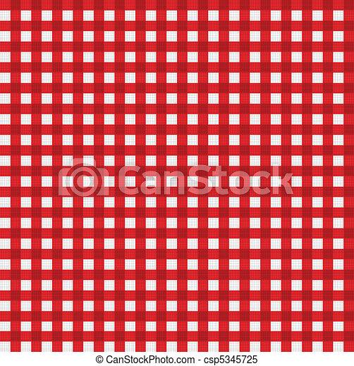 Pattern picnic tablecloth vector - csp5345725