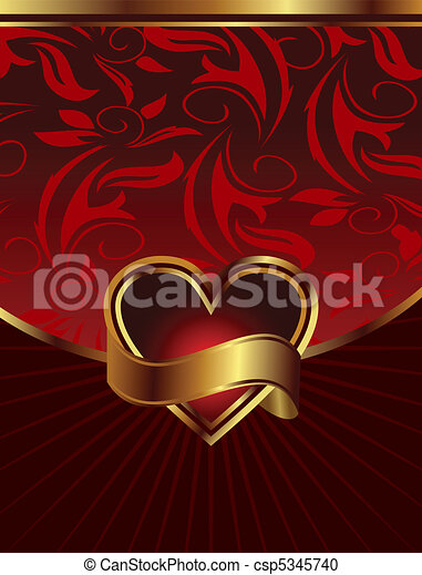 background for design of packing Saint Valentine's Day - csp5345740