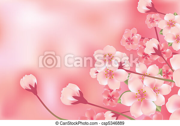 Abstract Luxury Cherry Blossom - csp5346889