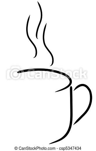 coffee mug or tea cup abstract - csp5347434