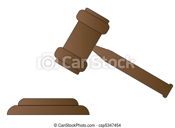 gavel - hammer of judge or auctioneer  - csp5347454
