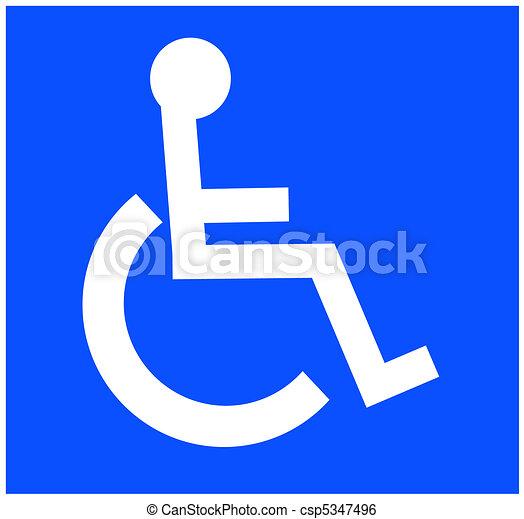white handicap accessible symbol  - csp5347496