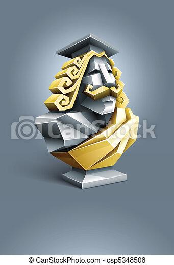 antique sculpture bust of wise professor - csp5348508