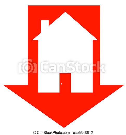crashing housing market  - csp5348612