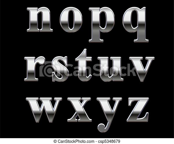 Chrome Alphabet Letters For Cars