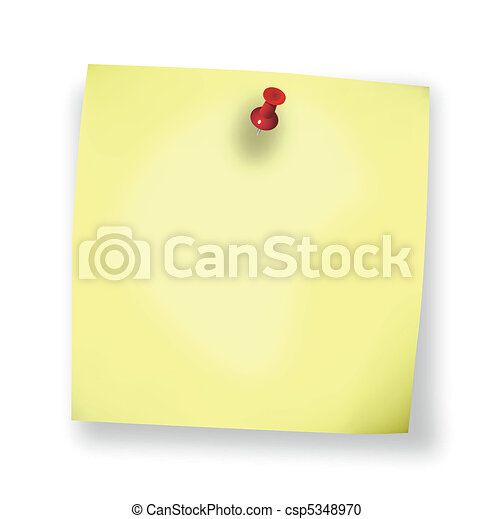Sticky Blank Note Vector - csp5348970