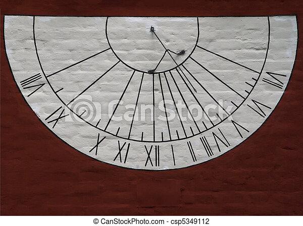 Sun dial at the Novodevichy convent - csp5349112