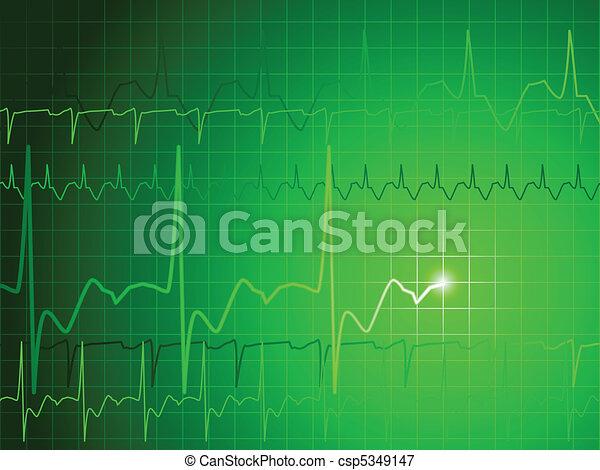 EKG background - csp5349147