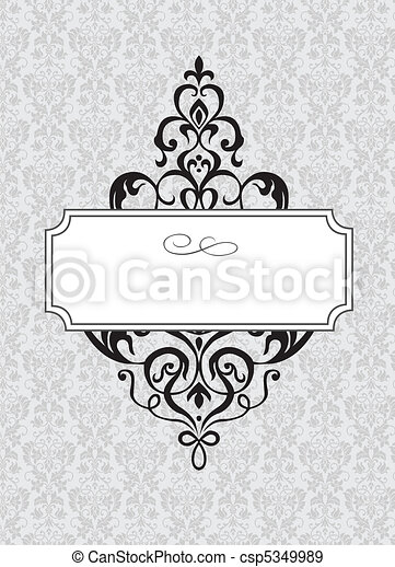 Vector Ornamental Frame and Pattern - csp5349989