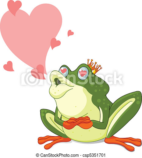Frog Prince waiting to be kissed - csp5351701